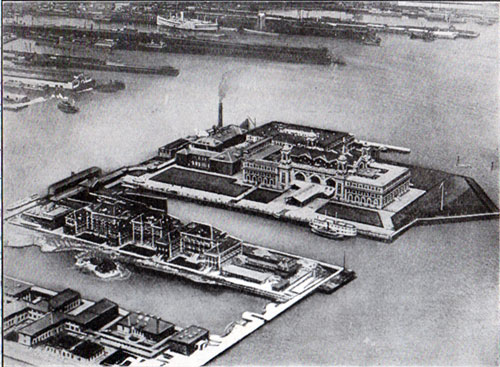 Ellis Island Immigration Station, New York - Arial View