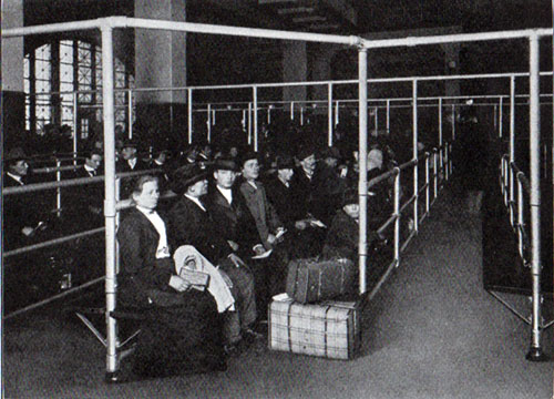 Ellis Island Immigrants Waiting to be Passed For Entry in the US