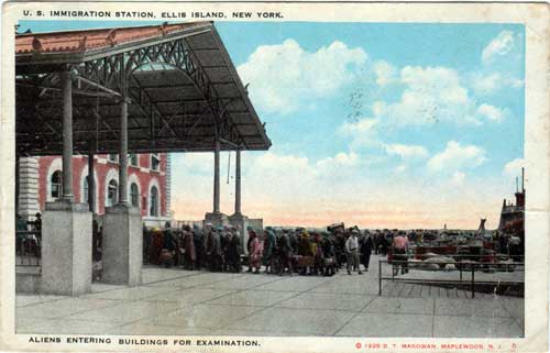 US Immigration Station, Ellis Island, New York 1926
