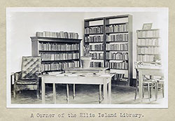 A Corner of the Ellis Island Library