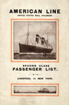 Passenger Manifest Cover, May 1915 Westbound Voyage - S.S. St. Louis