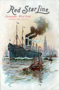 Passenger Manifest, Red Star Line SS Vaderland, 1901, Antwerp to New York (Front Cover)