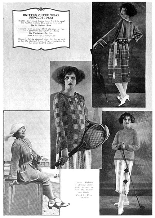 Rising Prestige of Knitted Outerwear March 1922