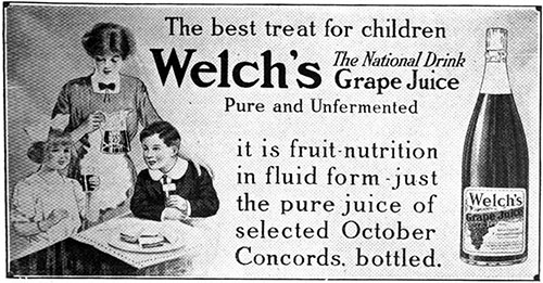 Welch's Grape Juice - The Best Treat for Children © 1912 The Welch Grape Juice Company