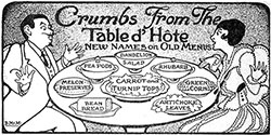 The Evolution of the Menu - 1906