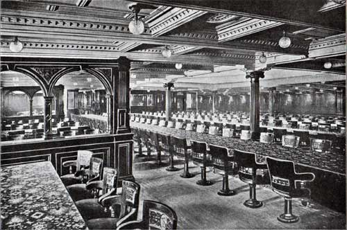 The Grand Dining Salon of the Cunard Steamships Campania and the Lucania.