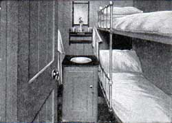 Third-Class Two Berth Room: Campania and Lucania.
