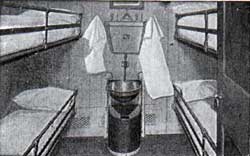 Third-Class Four-Berth Room: Campania and Lucania.