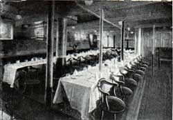 Second-Class Dining Saloon : Umbria and Etruria.