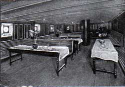 Third-Class Smoke Room: Ivernia and Saxonia.