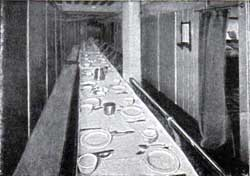 Third-Class Dining Room on the Ultonia.