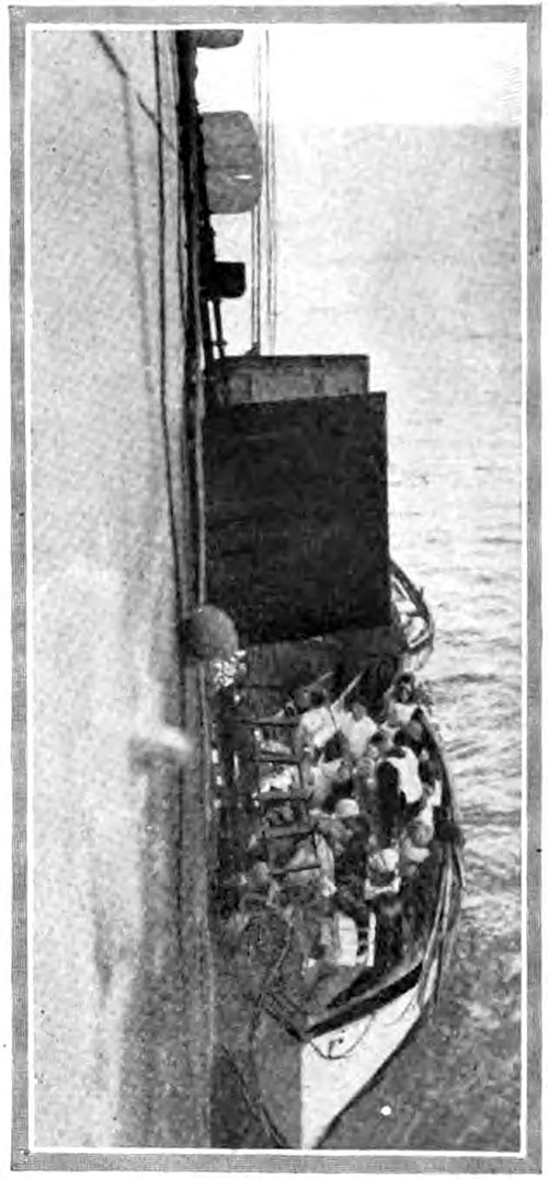 Unloading Survivors from a Lifeboat at the Side of the Carpathia,