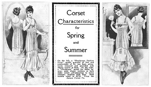 Corset Characteristics for Spring and Summer 1916
