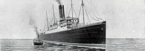 R.M.S. Ivernia of the Cunard Line