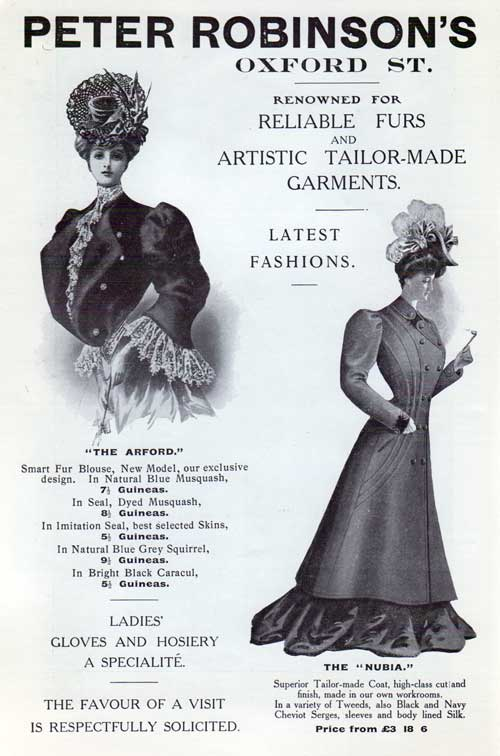 Peter Robinson's of London - 1906 Advertisment