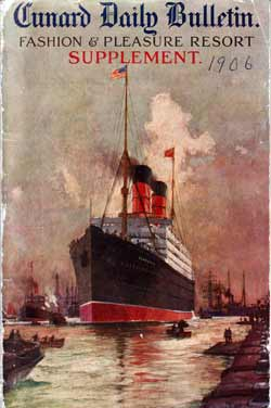 Cunard Daily Bulletin, Fashion & Pleasure Resort Supplement - 1906