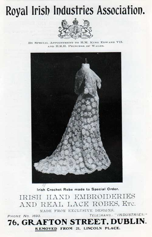 Royal Irish Industris Association - Women's Fashion Advertisement - 1907