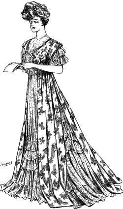 Sketch 3: The World of Dress - Women's Fashions - 1907