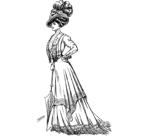Sketch 4 - The World of Dress - 1908