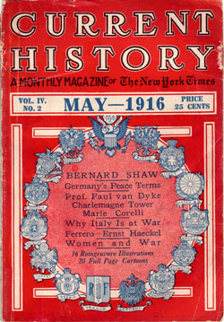 Front Cover - Current History Magazine of May 1916