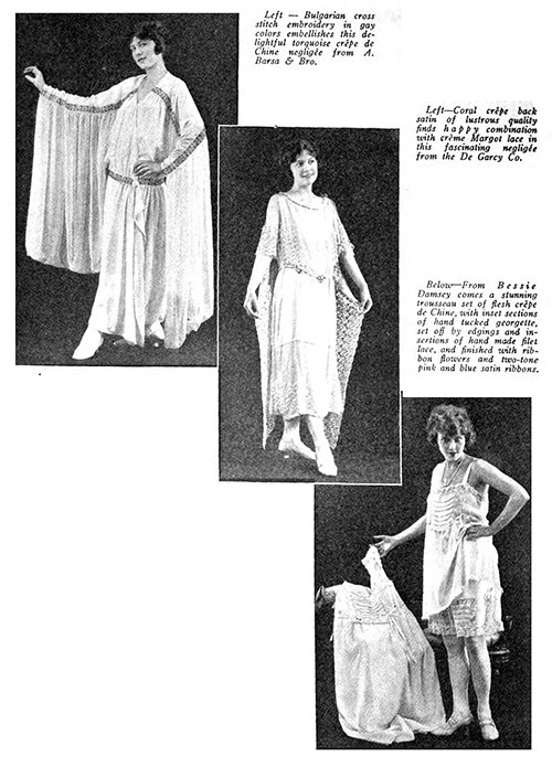 Fall 1922 Lingerie Fashions