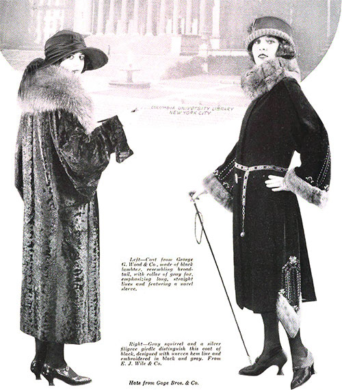 Some Coat Fashions for Fall 1922