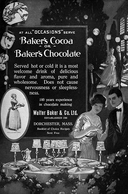 Baker's Cocoa or Baker's Chocolate - At All Occasions © 1920