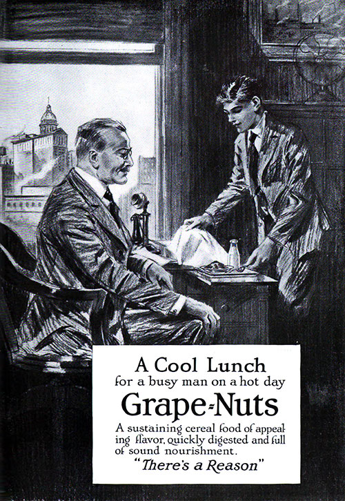 Grape=Nuts - A Cool Lunch © 1920