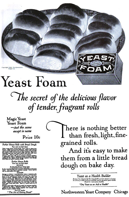 Yeast Foam - The Secret of the Delicious Flavor © 1920