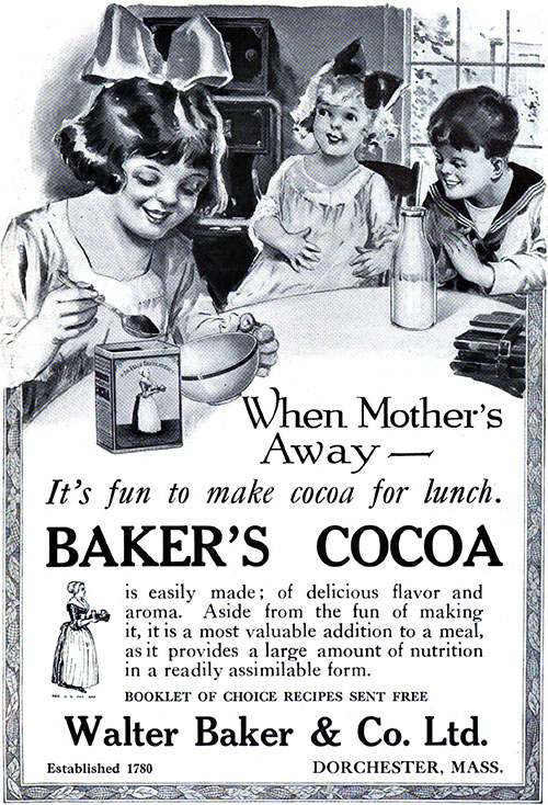 Baker's Cocoa - When Mother's Away © 1920