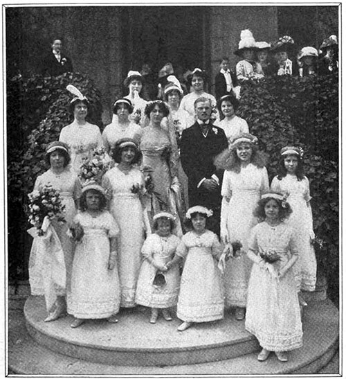 A characteristic wedding party in Merry England.