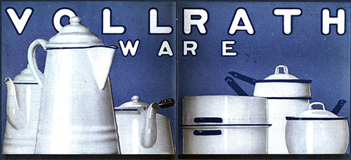 Vollrath Ware - Blue and White © 1919