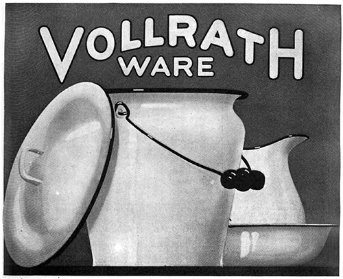 Vollrath Ware - Pitcher and Pale © 1920