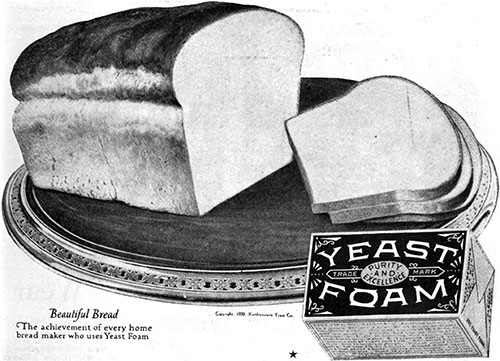 Yeast Foam - Beautiful Bread © 1920