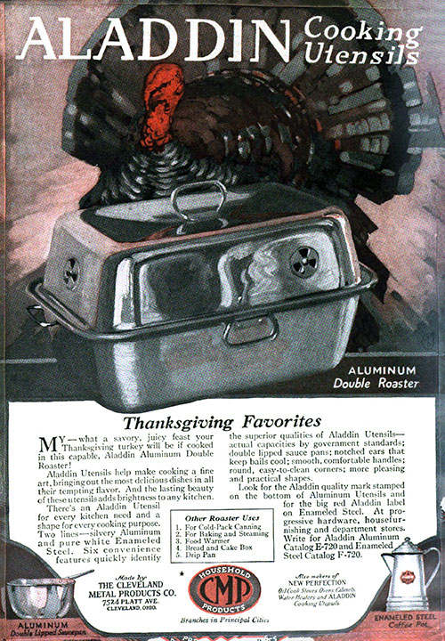 Aladdin Cooking Utensils 1920 Ad For Thanksgiving Favorites