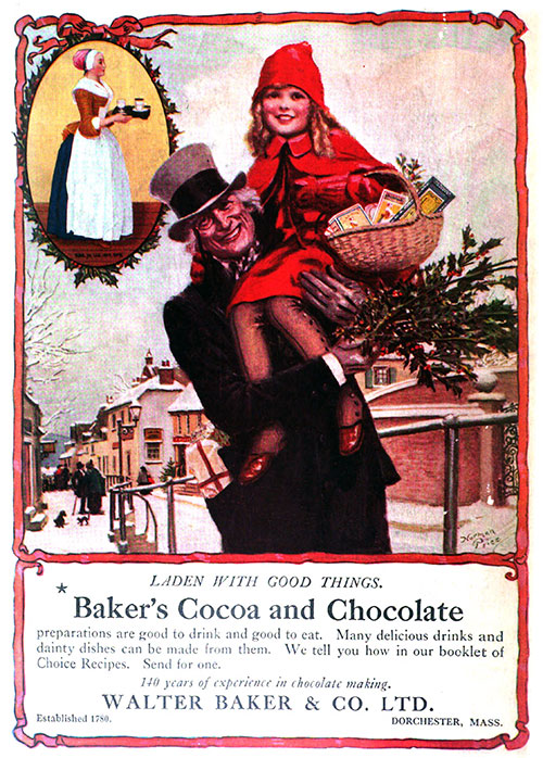 Baker's Cocoa and Chocolate - Laden With Good Things © 1920