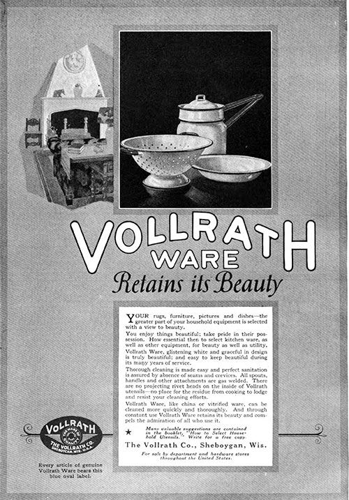 Vollrath Ware - Retains Its Beauty © 1921