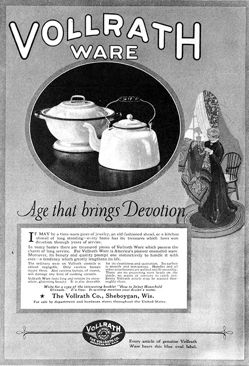 Vollrath Ware - Age That Brings Devotion © 1921