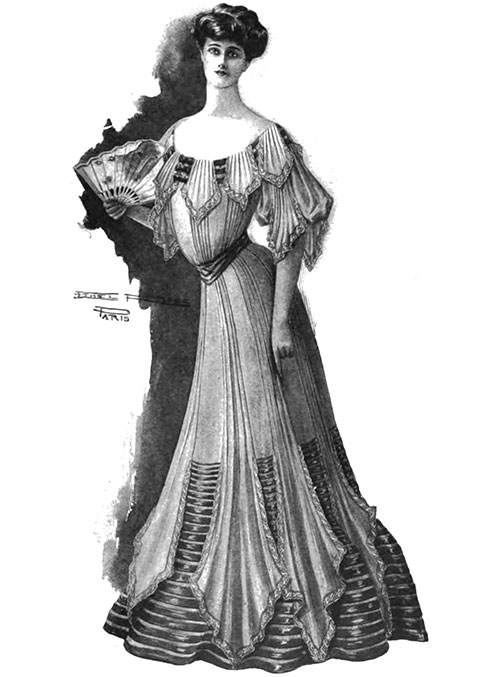 Simple Evening Gown from 1904