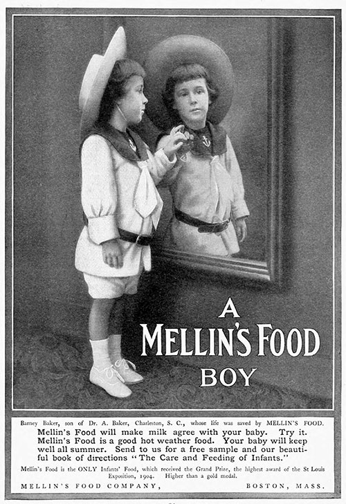 A Mellin's Food Boy - 1905 Ad