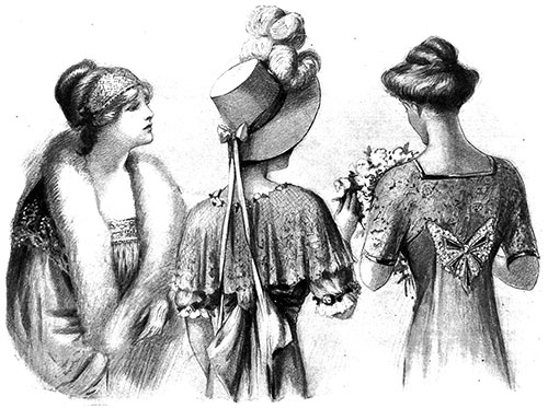 Smart Fashions for Spring Brides and Bridesmaids - 1912