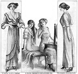Negligee, Nightgown and Pricess Slip, Morning Frock.