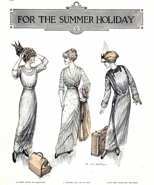 Summer Holiday Fashions for 1912