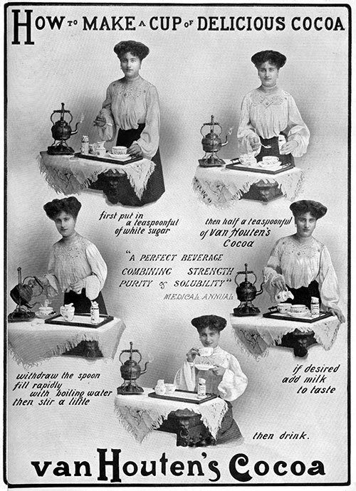 Van Houtens Cocoa - How to Make a Cup of Delicious Cocoa © 1905