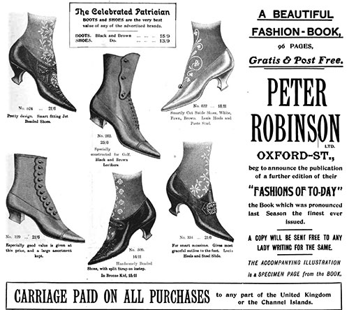 Fashionable Shoes at Peter Robinson - 1905