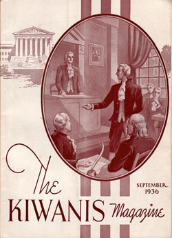 Front Cover, The Kiwanis Magazine, September 1936
