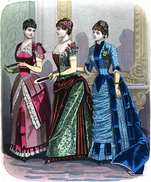 Plate 2: Dinner Costumes 436, 437, and 438