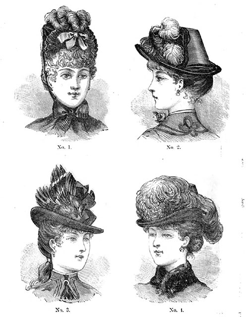 Plate 8: This Plate represents one bonnet and three hats