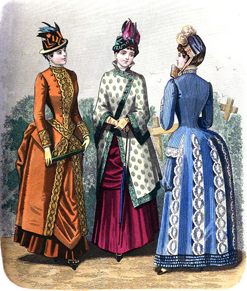 Plate 1: Promenade Costume, Visiting Mantle, and Visiting Costume