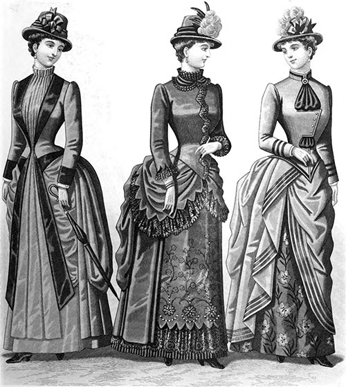 Plate 3: Promenade Costumes and Visiting Costume